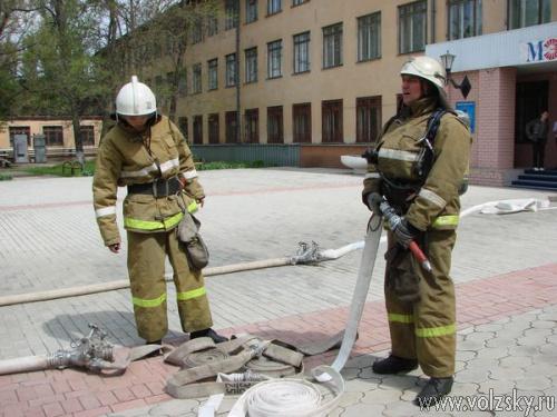 В МЭИ прошли пожарно-тактические учения