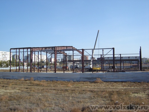 Владимир: Строительство спорткомплекса в 23 мкр, октябрь 2009г.
